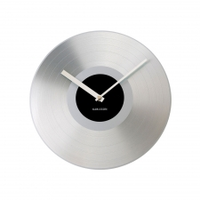 Recordings Clock, Silver