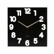 Jardin Clock, Black/White