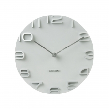 Engel Circle Clock, Silver