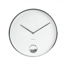 Diamond Circle Clock, White