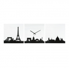Parisian Viewing Clock, Black/White