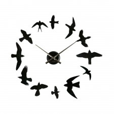 Aviary Clock, Black