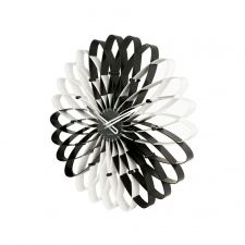 Spirals Clock, Black/White