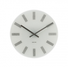 Warren Circle Clock, Silver