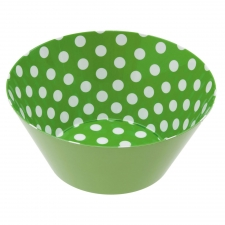 Green Melamine Polka Dot Bowl