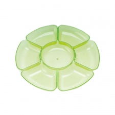 Green Flower Chip & Dip Bowl