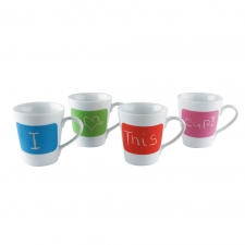 Express Yourself Mugs, Set of 4