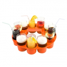 Sombrero Drink Tray, Orange