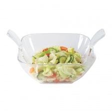 Serves Up Salad Bowl with Server
