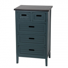 Baxley 5-Drawer Accent Stand, Green/Black