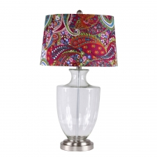 "29"" Lovejoy Table Lamp, Clear Glass"