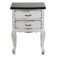 2-Drawer Cordelle Antique Accent Stand
