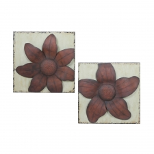 "16"" Ocilla 2-Piece Flower Metal Wall Décor"