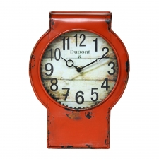 "11.5"" Iron Table Clock, Antique Orange"