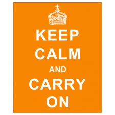 Keep Calm and Carry On, Orange