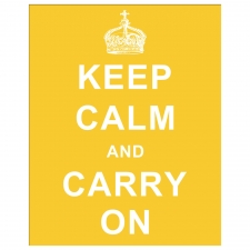 Keep Calm and Carry On, Yellow