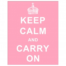 Keep Calm and Carry On, Pink