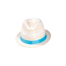 Straw Fedora - White (100)