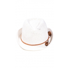 Feather Fedora Hat - White (100)