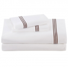 Chocolate Baratto Sheet Set, Queen