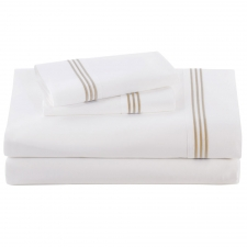 Ecru Baratto Sheet Set, King