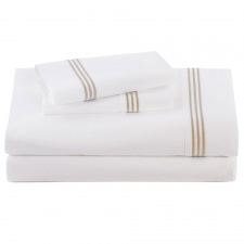 Ecru Baratto Sheet Set, Queen