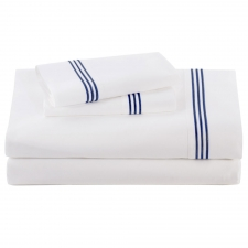 Navy Baratto Sheet Set, King