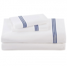 Navy Baratto Sheet Set, Queen