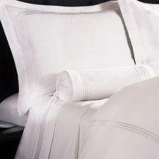 Baratto King Duvet Set, White Stripes