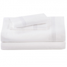 Baratto King Sheet Set, White Stripes