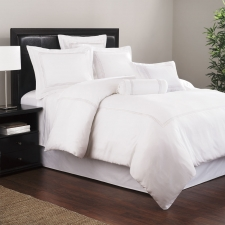 Baratto Twin Duvet Set, White Stripes