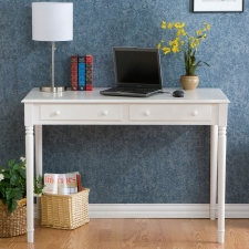 Whitehall 2-Drawer Writing Desk, Crisp White