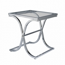Avon Chrome End Table