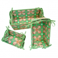 S/3 Storage Baskets, Watermelon Green made by Patterned Travel Gear .