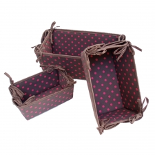 S/3 Storage Baskets, Chocolate Dot made by Patterned Travel Gear .