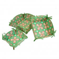 S/3 Nesting Baskets, Watermelon Green made by Patterned Travel Gear .