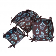 S/3 Nesting Baskets, Blue Pineapple made by Patterned Travel Gear .