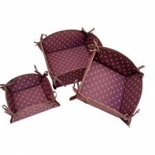 S/3 Nesting Baskets, Chocolate Dot made by Patterned Travel Gear .