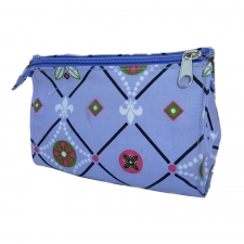 Large Cosmetic Bag, Fleur de Lis made by Patterned Travel Gear .