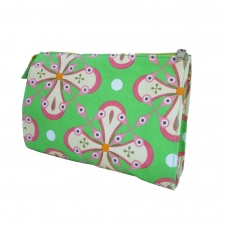 Large Cosmetic Bag, Watermelon Green made by Patterned Travel Gear .