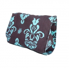 Large Cosmetic Bag, Blue Pineapple made by Patterned Travel Gear .
