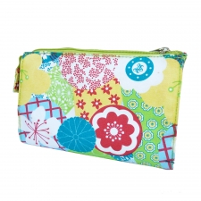 Large Cosmetic Bag, Red Blossom made by Patterned Travel Gear .