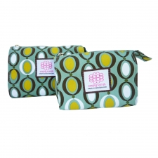 Small Cosmetic Bag, Polka Dot made by Patterned Travel Gear .