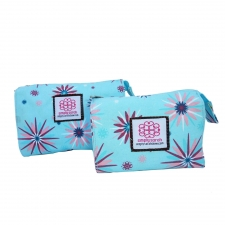 Small Cosmetic Bag, Starburst made by Patterned Travel Gear .