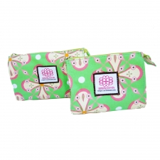 Small Cosmetic Bag, Watermelon Green made by Patterned Travel Gear .