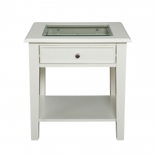 La Belle End Table, White