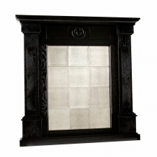 Harding Mirrored Mantel Façade, Black