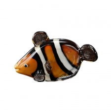 Cranston Art Glass Clown Fish