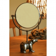 "14"" Bear & Fish Mirror"