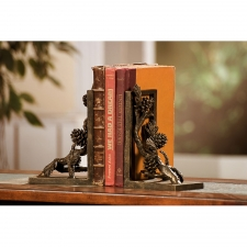"8"" Pine Cone Bookends"